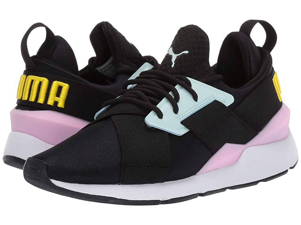 Puma Kids Muse (Big Kid) (Puma Black/Pale Pink) Girl