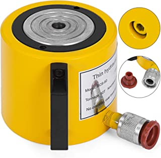 Mophorn 50T 2In Stroke Hydraulic Cylinder Jack Solid Single Acting Hydraulic Ram Cylinder 50mm Hydraulic Lifting Cylinders(50T 2Inch)