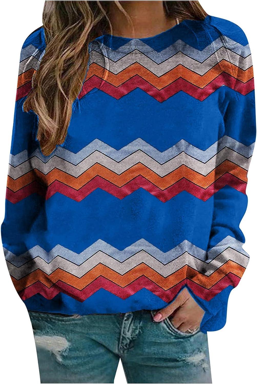Womens Long Sleeve Tops,Womens Casual Crewneck Long Sleeve Sweatshirt Comfy Tees Color Tunic Pullover Top