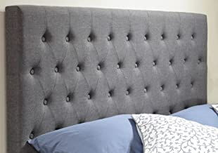 Istyle Norman King Bed Head Fabric Grey