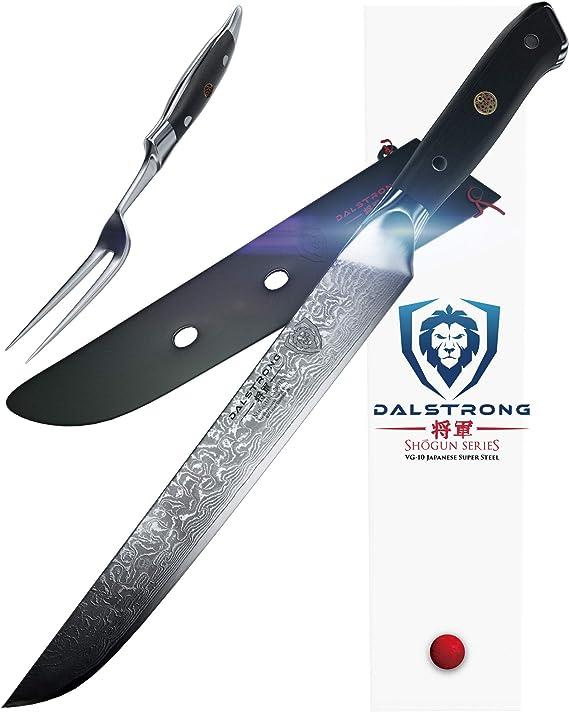 DALSTRONG Carving Knife & Fork Set - Shogun Series -9