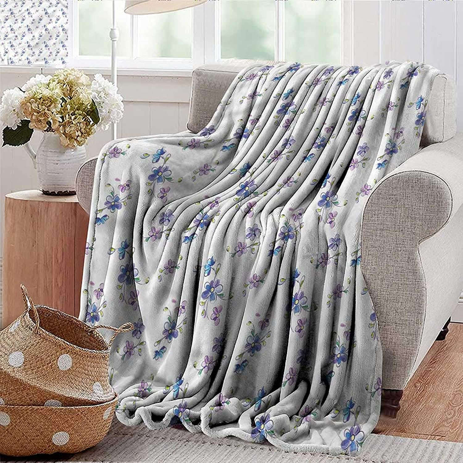 Xaviera Doherty Weighted Blanket for Kids Garden,Bridal Romantic Buds Soft Summer Cooling Lightweight Bed Blanket 50 x60