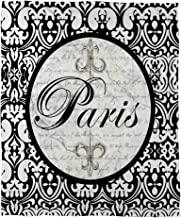 Manual Woodworkers & Weavers Coral Fleece Throw, 50 by 60-Inch, Paris Circle Damask