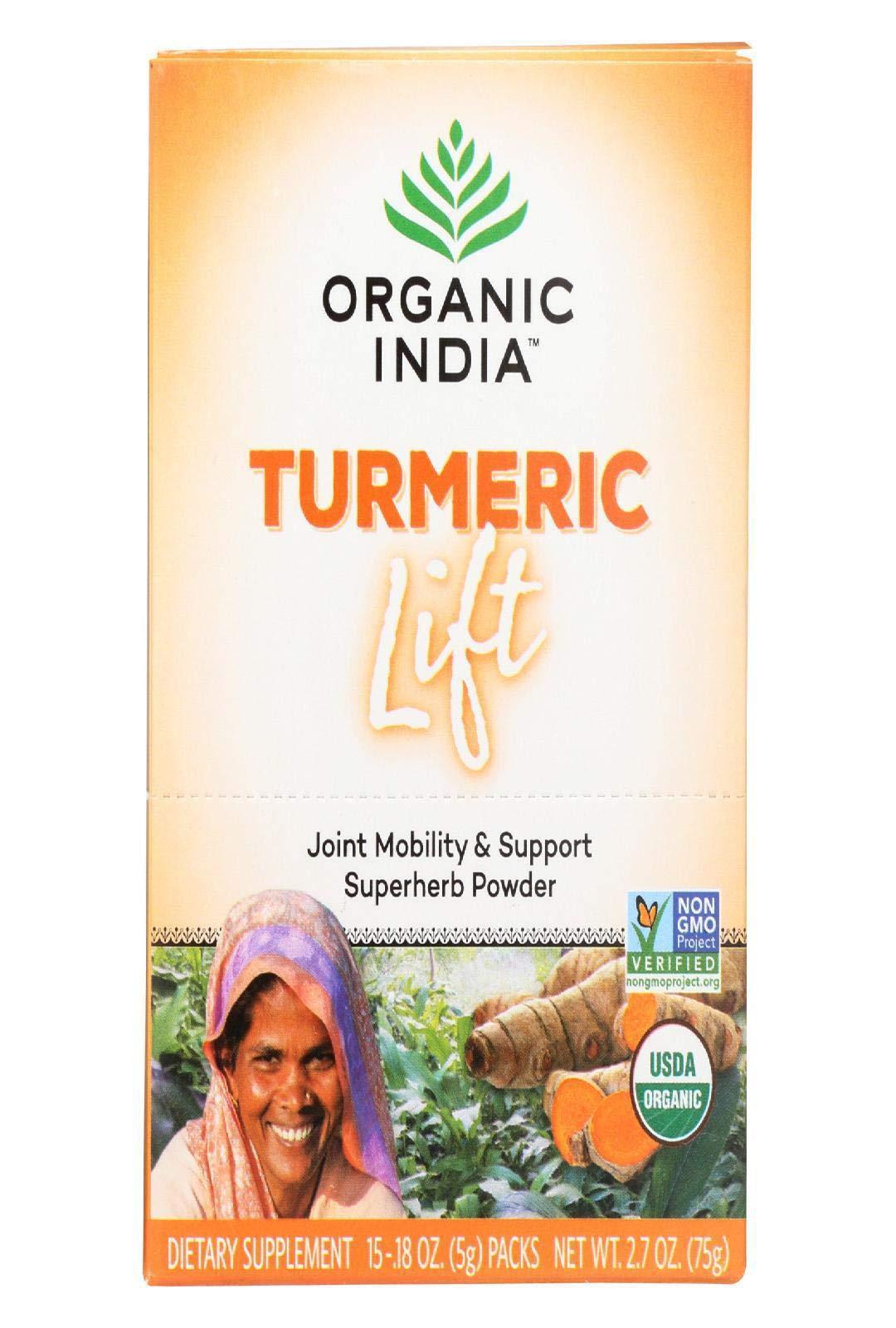 Organic India Turmeric Lift packets