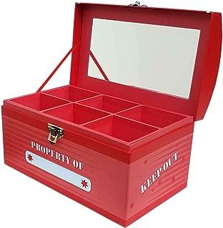 Treasure Chest Box Jumbo - Laser Red