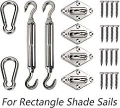 Love Story Hardware Kit 6 Inches 316 Stainless Steel for Rectangle and Square Sun Shade Sail Installation