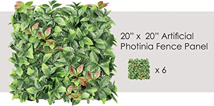 """ECOOPTS 20"""" x 20"""" Artificial Boxwood Panel Garden Privacy Ivy Fence Faux Greenery Lattice Panels Wall Decor for Outdor Ind..."""