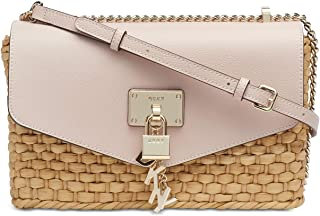 DKNY Elissa Medium Chain Strap Shoulder Bag (Straw/Iconic Blush)