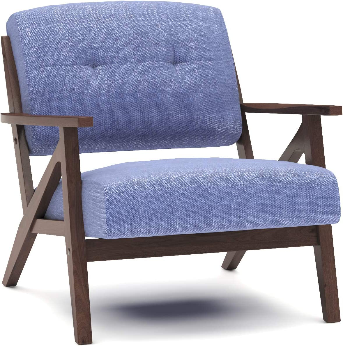Colin Max 74% OFF Tufted Mid Century wholesale Wood Chair Accent