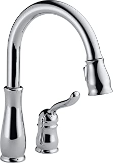 Delta Faucet Leland Single-Handle Kitchen Sink Faucet with Pull Down Sprayer and Magnetic Docking Spray Head, Chrome 978-DST