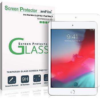 amFilm Glass Screen Protector for iPad Mini 5 (2019) and iPad Mini 4, Tempered Glass