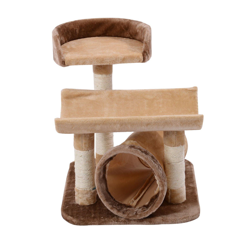 Pawhut Rascador Gato 58x49x74cm Arbol Poste de Arañar Cueva Dormir Arboles Gatos Nuevo: Amazon.es: Productos para mascotas