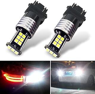 Botepon 1600 Lumens Extremely Bright 3056 3156 3057 3157 Led Backup Lights Bulb, 3030 24-SMD Led Bulb for Car Led Backup Reverse Lights 12V 24V (Pack of 2)