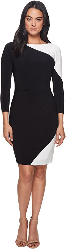 LAUREN Ralph Lauren Timber Two-Tone Matte Jersey Dress