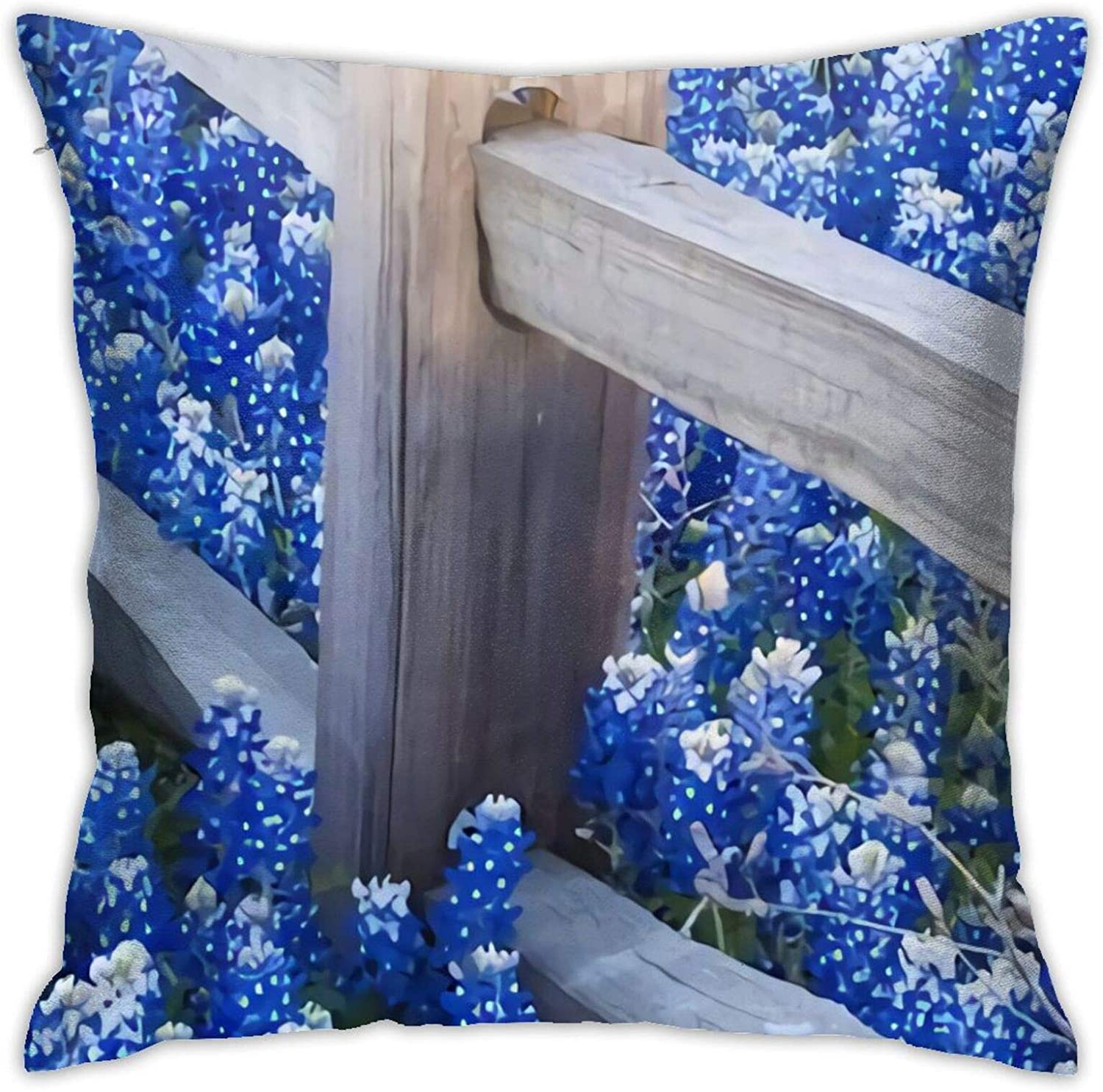 GERERIC Spasm price Throw Pillow Covers Background Bluebonnets 18X18 Import Flowers