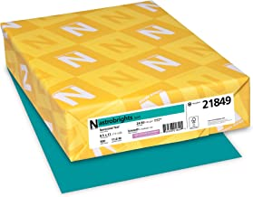 "Astrobrights Color Paper, 8.5"" x 11"", 24 lb/89 GSM, Terrestrial Teal, 500 Sheets (21849)"