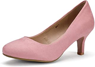 Women's RO2 Basic Round Toe Mid Heel Pump Shoes