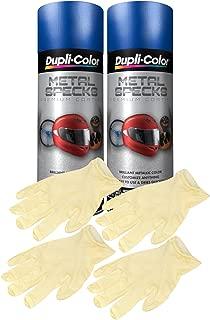 Dupli-Color Ocean Blue Metal Specks Spray Paint (11 oz) Bundle with Latex Gloves (6 Items)