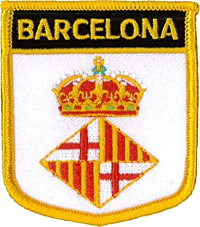 """8x4cm yellow Application Embroid FC BARCELONA /""""FCB 1899/"""" Iron on patches"""