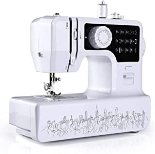WilBee Sewing Machine with 12 Built-in Stitches Mini Sewing Machine for Beginners with 2 Speed Mode, Reverse Sewing, Porta...