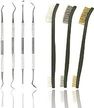 Eamber Gun Cleaning Brushes & Picks Kit Set Brass Steel Nylon Double Ended Gun Cleaning Brushes Stainless Steel Pick Set - Brass Steel Nylon Bristle Brushes