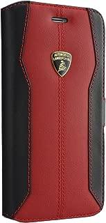 Lamborghini Huracan-D1 Leather Ultra Slim Side Flip Case Cardholder iPhone X (Red)