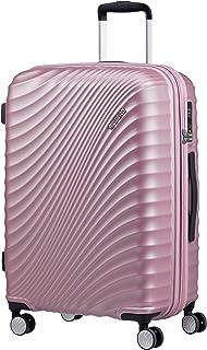 American Tourister Jetglam - Spinner M Espandibile Valigia, 67 cm, 77.5 litri, Rosa (Metallic Pink)