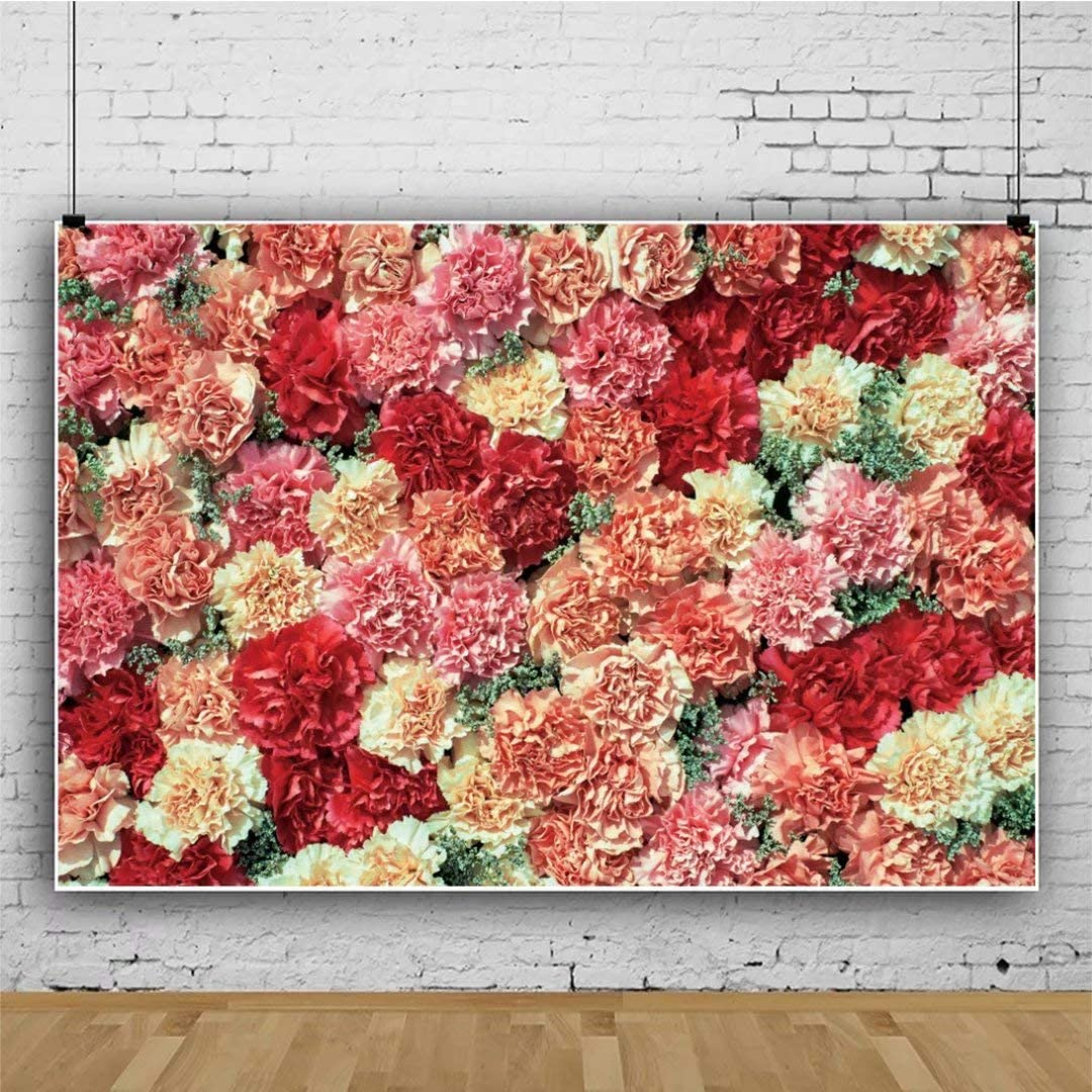 DaShan 14x10ft Bridal Shower Wedding Floral Wall Backdrop Romantic Bloom Flower Decor Photography Background Flower Birthday Party Newborn Baby Decor Valentine Mother Girls Floral Photo Props