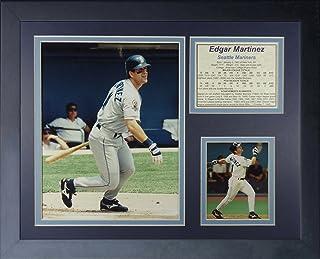 """Legends Never Die """"Edgar Martinez Mariners"""" Framed Photo Collage, 11 x 14-Inch (11368U)"""