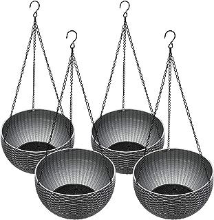 grey hanging basket