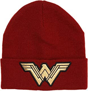 DC Comics Wonder Woman Logo Cuffed Adult Beanie Red