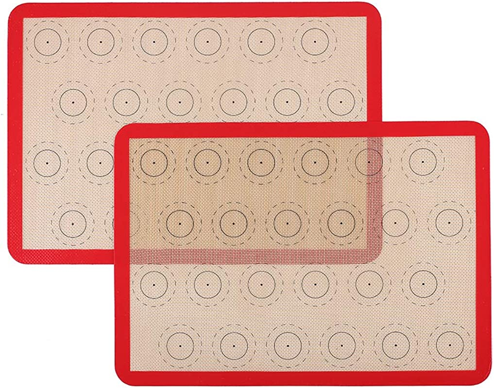 Silicone Macaron Baking Mat Set Of 2 Half Sheet Thick Large 11 5 8 X 16 1 2