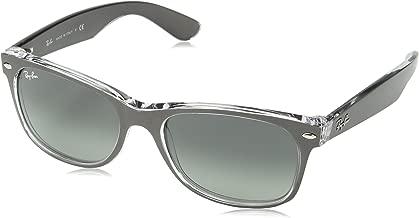 RAY-BAN RB2132 New Wayfarer Sunglasses, Brushed Gunmetal On Transparent/Grey Gradient, 55 mm