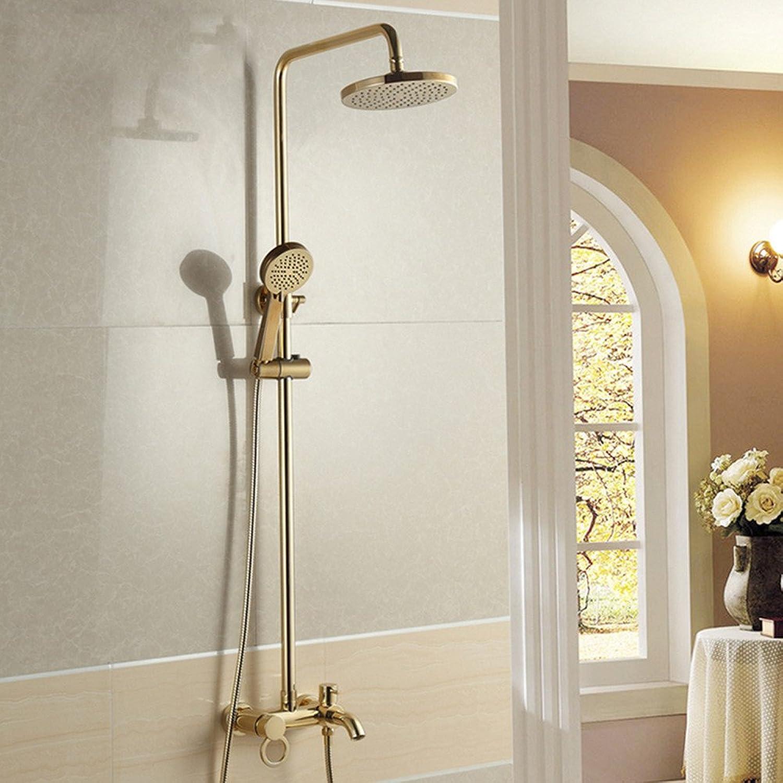 ZQ@QX Gold-Kupfer retro im europischen Stil mit Dusche Dual kit Dusche