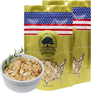 DOL American Ginseng Slice from Wisconsin (Sliced Ginseng Root) (Small 4oz/Bag*2)