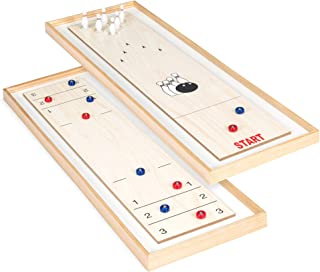Best Choice Products 45-Inch 2-in-1 Shuffleboard and Bowling Set w/ 8 Rollers and 12 Bowling Pins