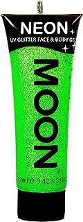 Moon Glow - Neon UV Glitter Face & Body Gel - 0.42oz Green – Glitter Face Paint