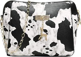 Leopard Bags For Women Luxury Handbags Women Bags Designer Flap Leather Crossbody Shoulder Bags,White