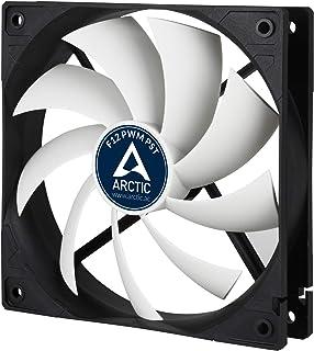 ARCTIC F12 PWM PST - Ventilador para caja de 120 mm, carcasa estándar, conexión PST (Tecnología intercambio PWM) velocidad regulada sincrónicamente, Negro