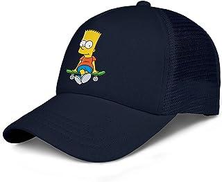 LuMaGG Kids Baseball Cap Adjustable Strapback Cartoon Logo Dad Trucker Hat for Boys Girls