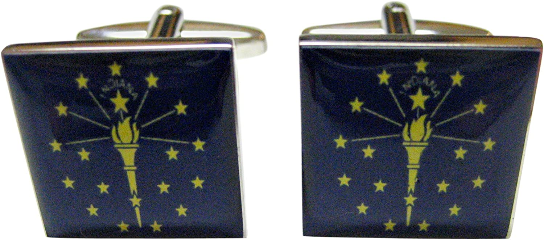 Raleigh Mall Kiola Designs 5 ☆ very popular Indiana Flag Cufflinks State