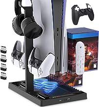 Suporte de carregamento com ventilador de resfriamento para console e controlador de edição digital PS5 / PS5, estação de ...
