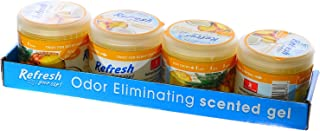 Refresh Scented Gel Can's 4.5 oz Car, Home & Office Air Freshener, Pina Colada (Pack of 4)