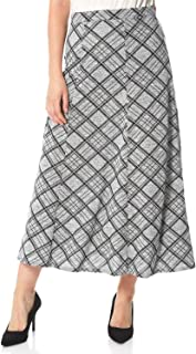 Roman Originals Falda con textura con dobladillo de flauta para mujer, elegante, informal, para trabajo, oficina, entrevis...