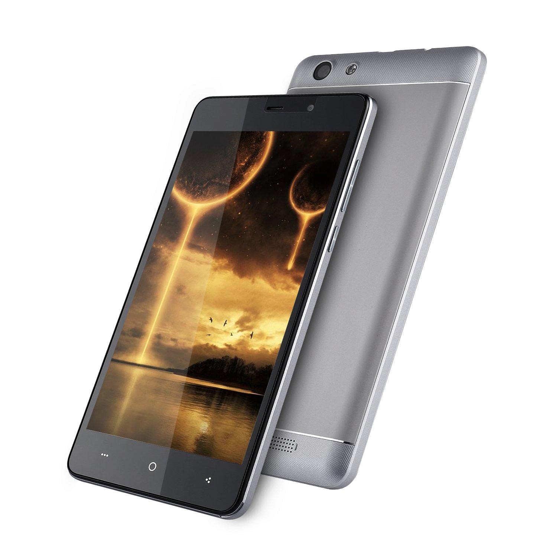 LEAGOO Shark 5000 - Smartphone 3G Quad-Core 5.5 Pulgadas HD 5000MAH batería Enorme 1GB RAM 8GB ROM teléfono móvil para Android 6.0 (Gris): Amazon.es: Electrónica