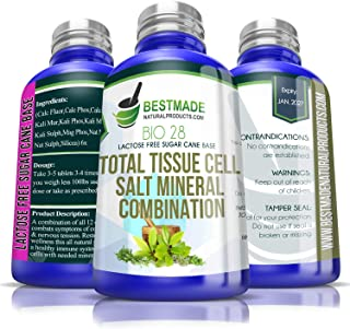 Sponsored Ad - Total Tissue Cell Salt Mineral Combination Bio28 (Lactose Free) 300 pellets, Helps Your Body Absorb and Use...