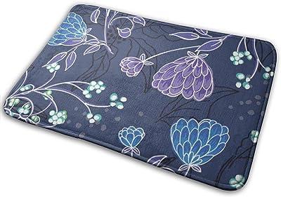 """Summer Weeds Floral Doormat Non Slip Indoor/Outdoor Door Mat Floor Mat Home Decor, Entrance Rug Rubber Backing Large 23.6""""(L) x 15.8""""(W)"""