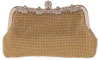 MDSQ Fashion Wild Diamond Handbag Dinner Will Pack European And American Fashion Hand Bag Diamond Clutch (20 * 5 * 13CM) Fashion personality (Color : Yellow)
