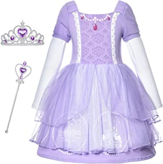 Princess Generic Costume Dress Up for Toddler Girls Birthday Party (24M - 6T)