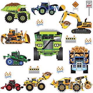 RoomMates New Speed Limit - Construction Vehicles Peel and Stick Wall Decals